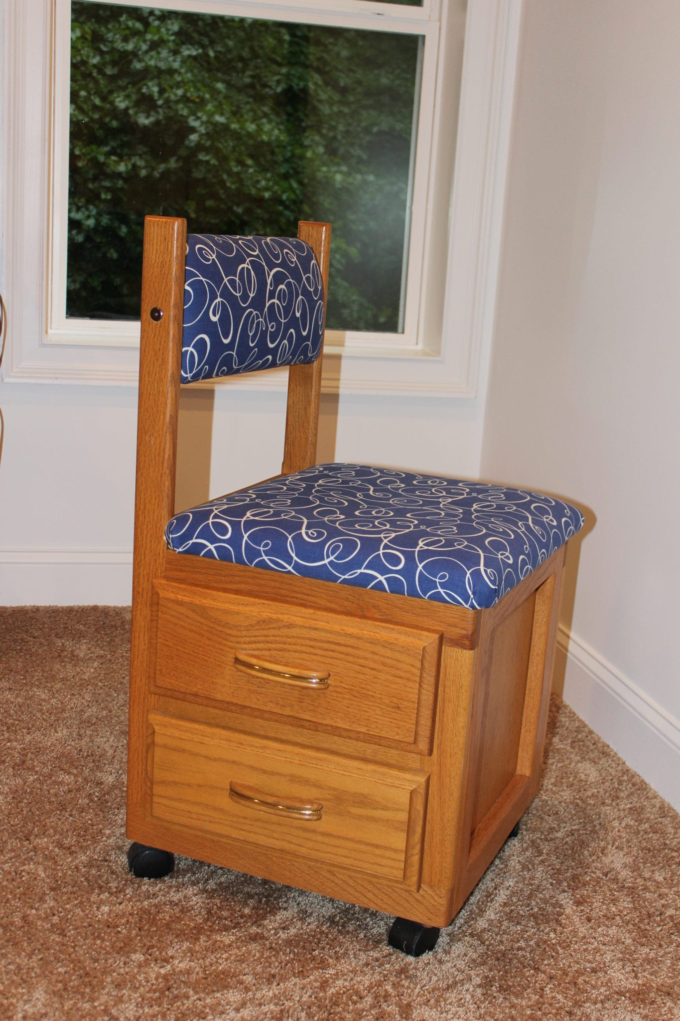 Recovering a Sewing Chair