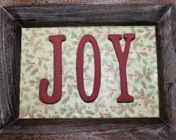 Joy Christmas Tray