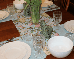 Decorating My Dining Room Table for Spring