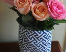 How to Make a Fabric Skirt for a Flower Vase