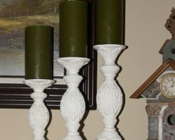 Updating Candle Holders with Paint